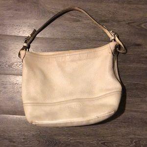 Cream leather Coach bag